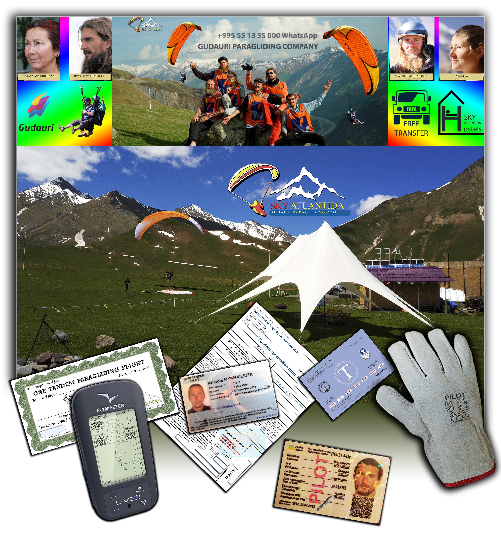 Gudauri paragliding tandem company